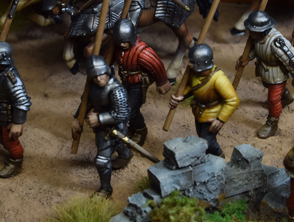 Dioramas and Vignettes: Medieval soldiers at march, photo #6
