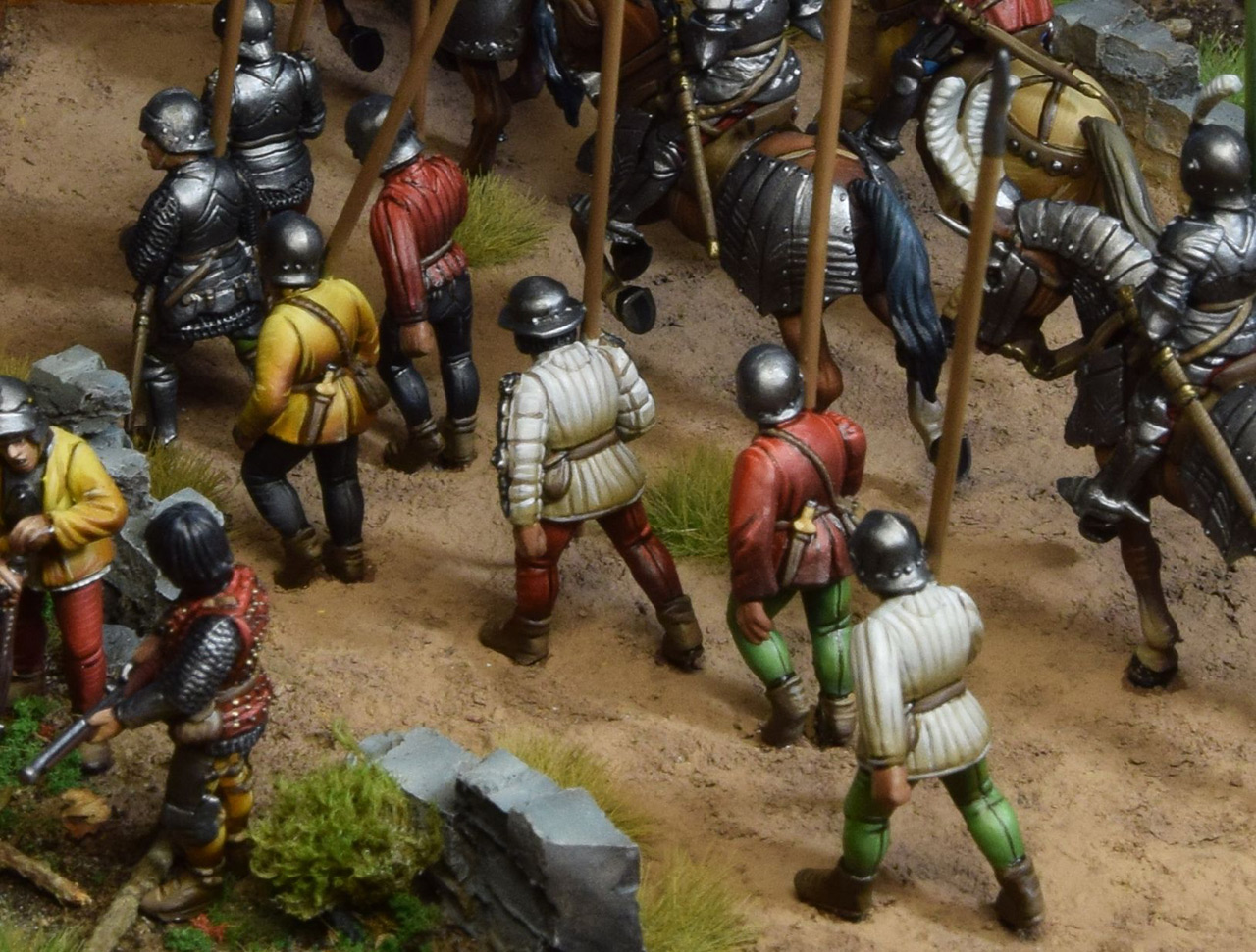 Dioramas and Vignettes: Medieval soldiers at march, photo #7
