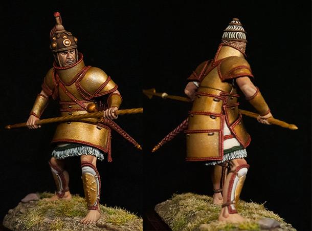 Figures: Mycenae warrior, XIV B.C.
