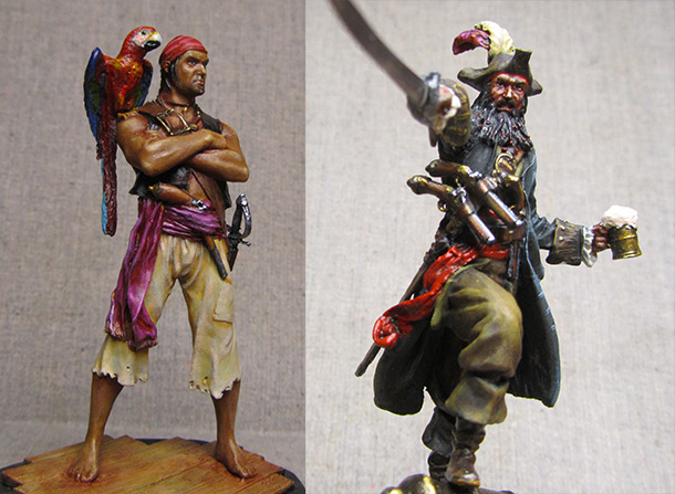 Figures: Two pirates
