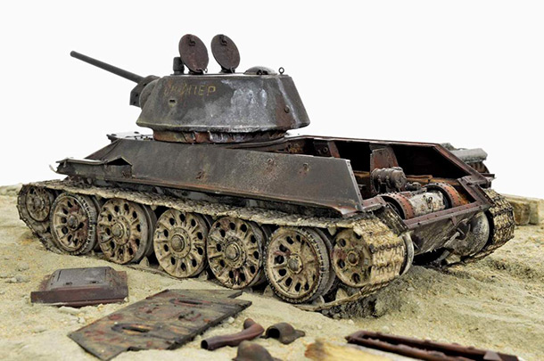 Dioramas and Vignettes: Т-34/76 «Sniper», 1942-2003