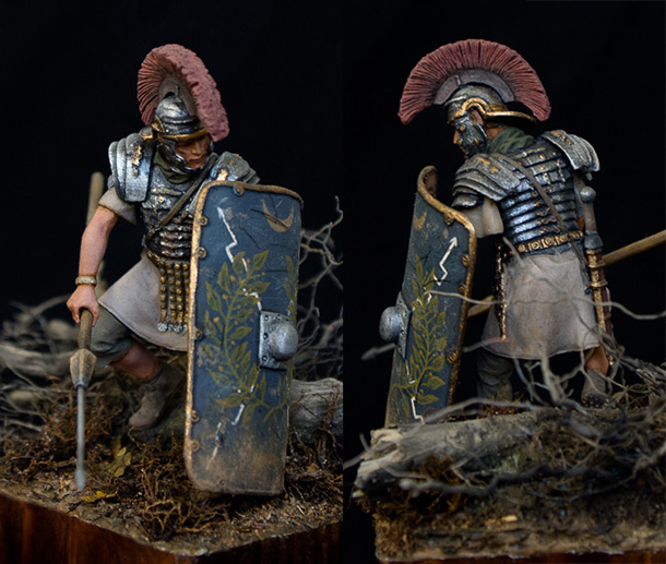 Figures: Roman legionary, Teutoburg forest, 9 A.D.