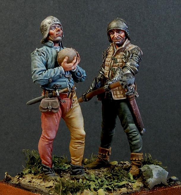 Figures: Artillerymen, XV cent., Western Europe