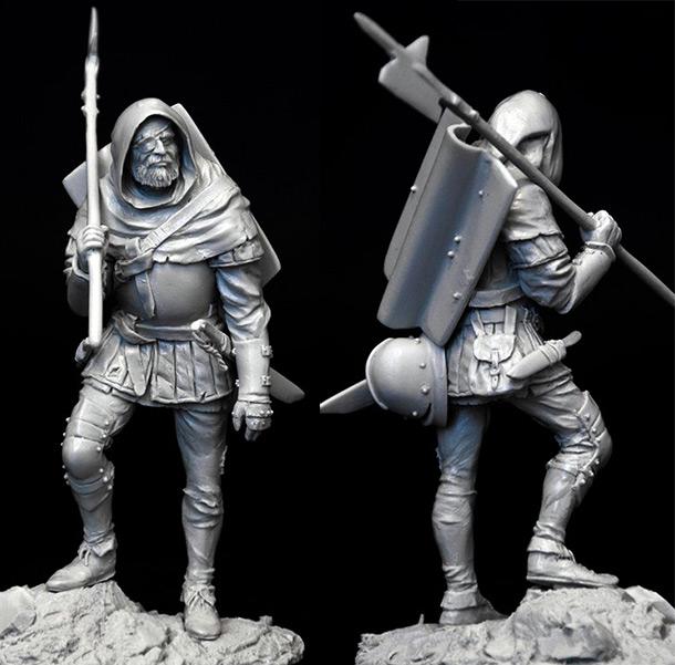 Sculpture: Mercenary, XV cent.