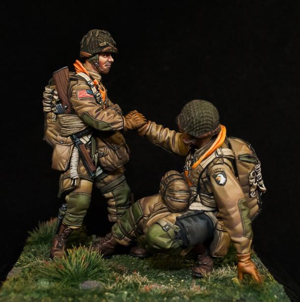 Figures: U.S. Paratroopers, WWII