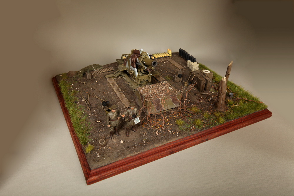 Dioramas and Vignettes: British 9.2 inch mortar at firing position, photo #1