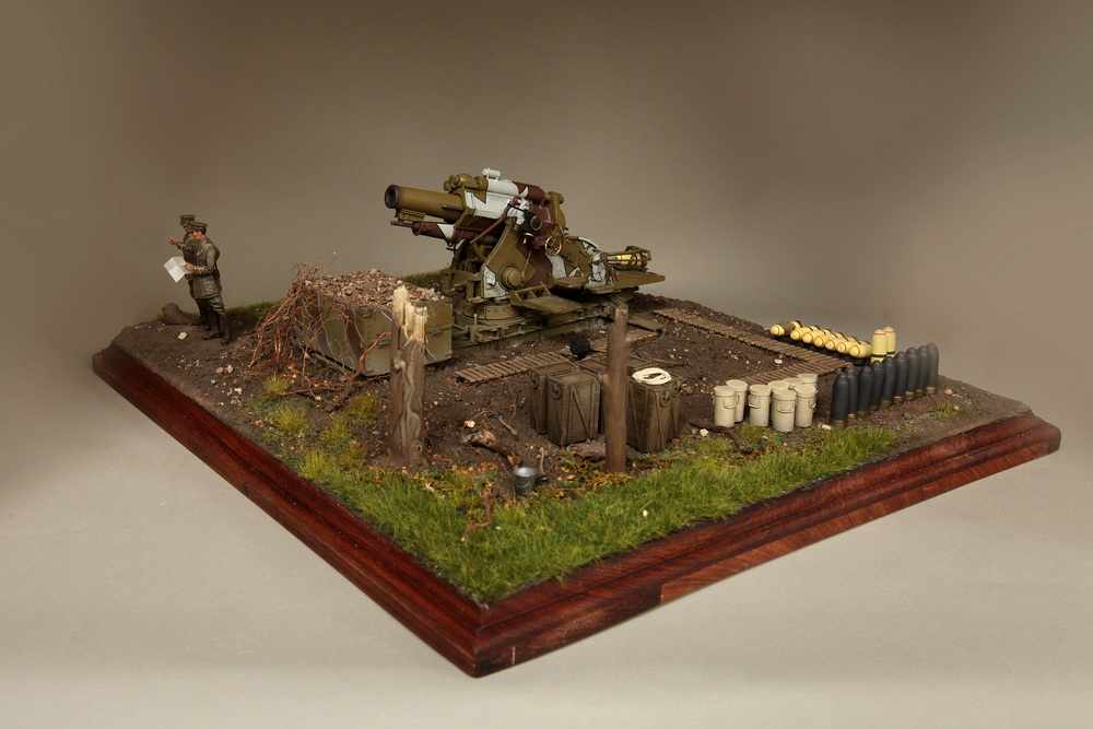 Dioramas and Vignettes: British 9.2 inch mortar at firing position, photo #10