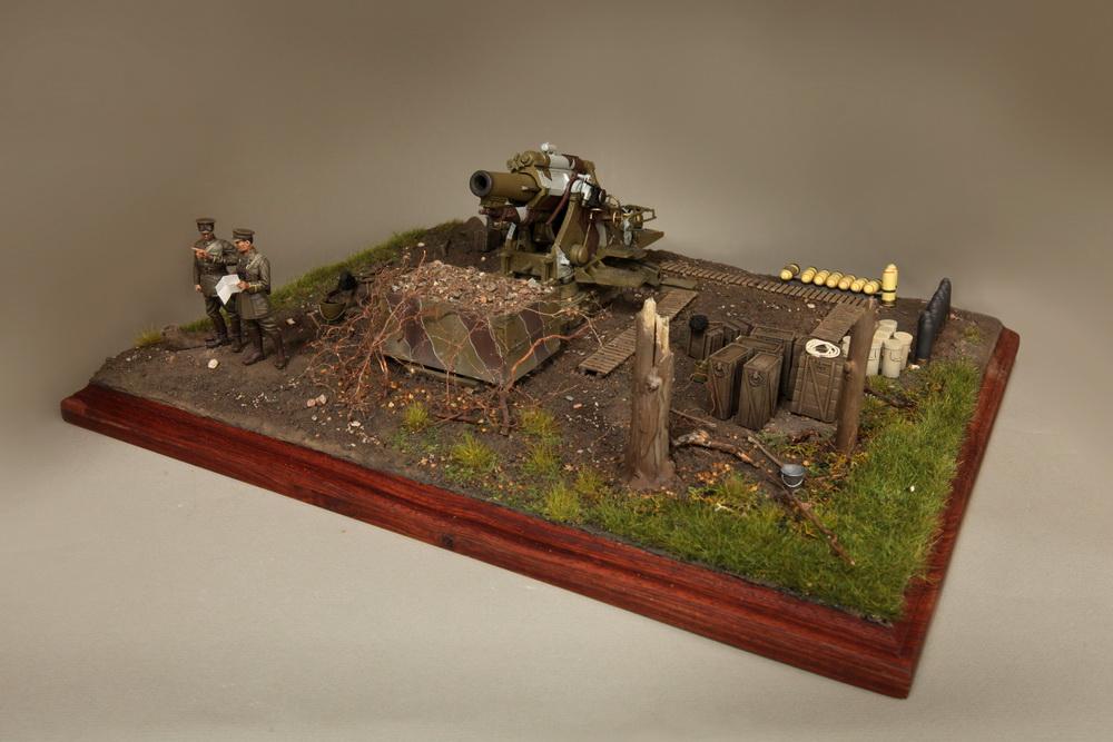 Dioramas and Vignettes: British 9.2 inch mortar at firing position, photo #11