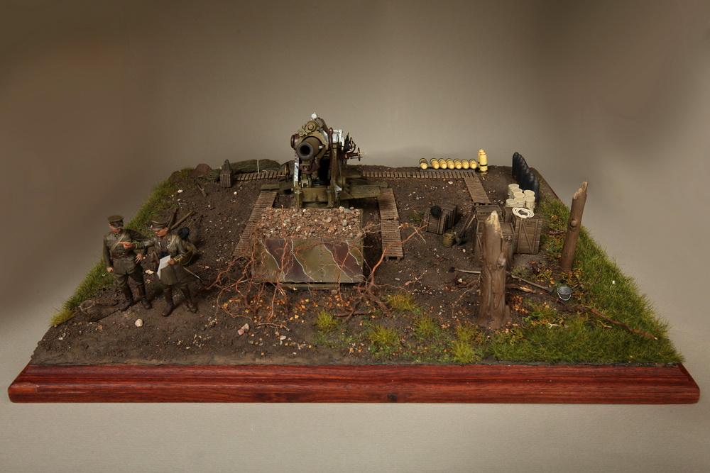 Dioramas and Vignettes: British 9.2 inch mortar at firing position, photo #12