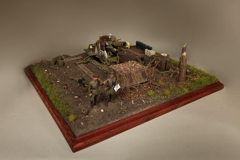 Dioramas and Vignettes: British 9.2 inch mortar at firing position, photo #13