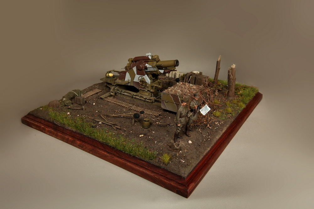 Dioramas and Vignettes: British 9.2 inch mortar at firing position, photo #14
