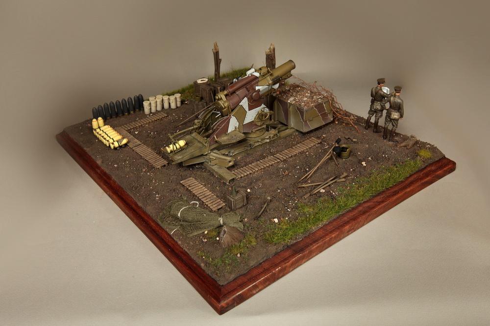 Dioramas and Vignettes: British 9.2 inch mortar at firing position, photo #15