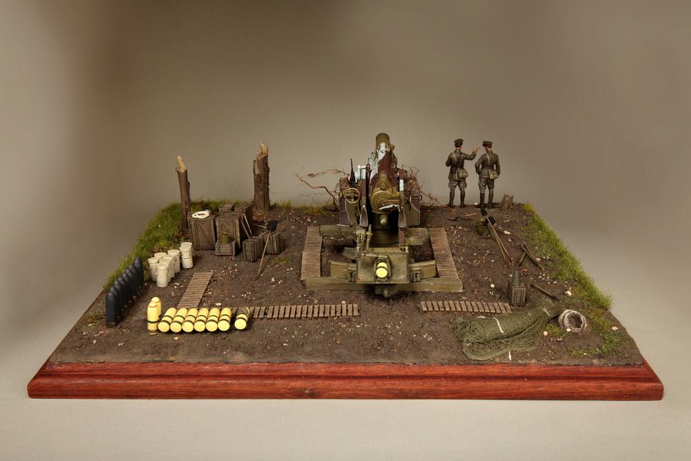 Dioramas and Vignettes: British 9.2 inch mortar at firing position, photo #16
