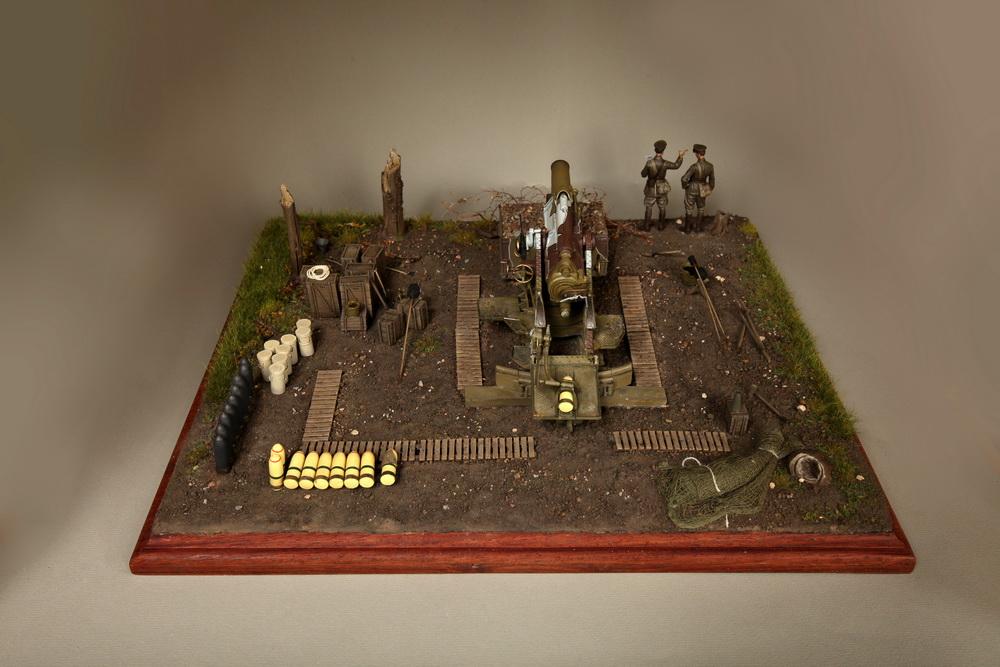 Dioramas and Vignettes: British 9.2 inch mortar at firing position, photo #17