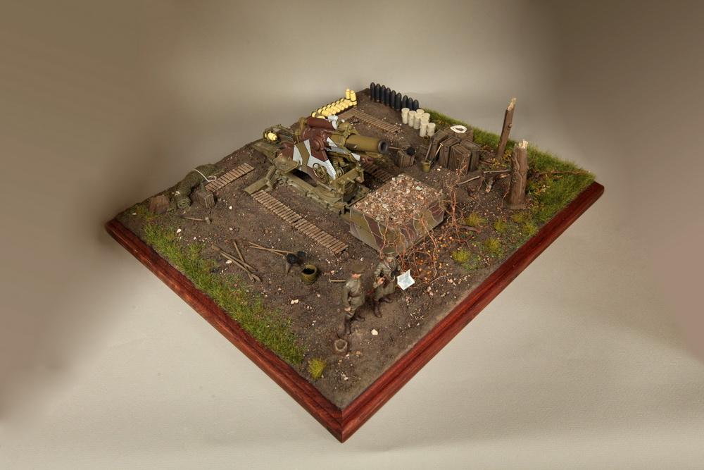 Dioramas and Vignettes: British 9.2 inch mortar at firing position, photo #2