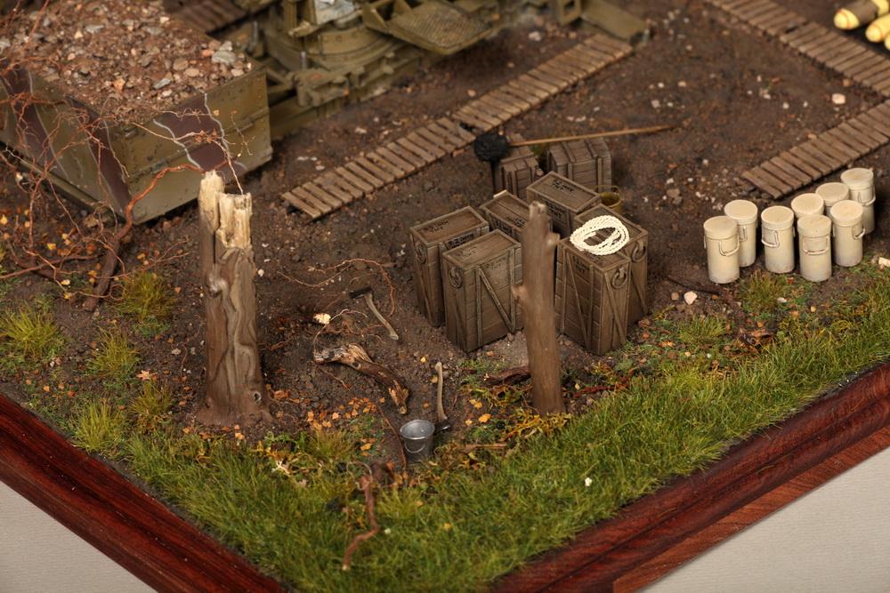 Dioramas and Vignettes: British 9.2 inch mortar at firing position, photo #22