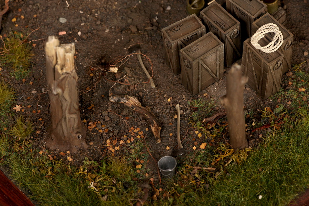 Dioramas and Vignettes: British 9.2 inch mortar at firing position, photo #23