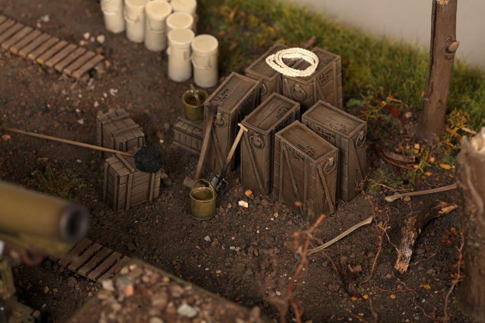 Dioramas and Vignettes: British 9.2 inch mortar at firing position, photo #24