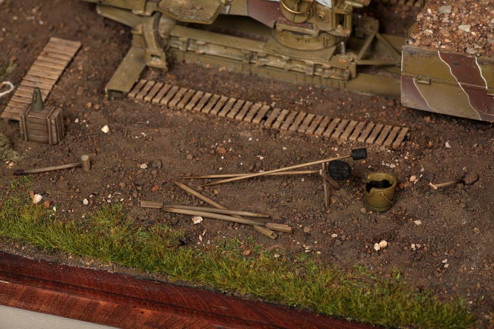 Dioramas and Vignettes: British 9.2 inch mortar at firing position, photo #25