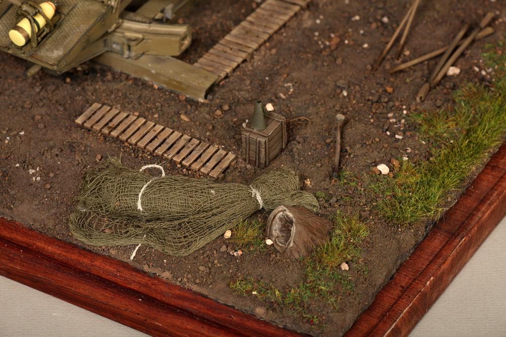Dioramas and Vignettes: British 9.2 inch mortar at firing position, photo #26