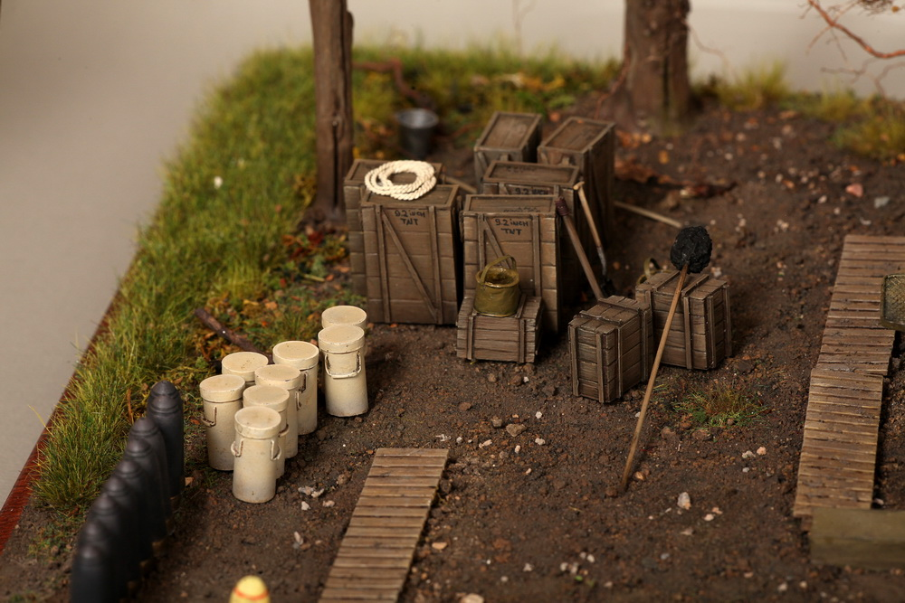 Dioramas and Vignettes: British 9.2 inch mortar at firing position, photo #28