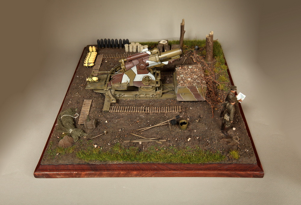 Dioramas and Vignettes: British 9.2 inch mortar at firing position, photo #3