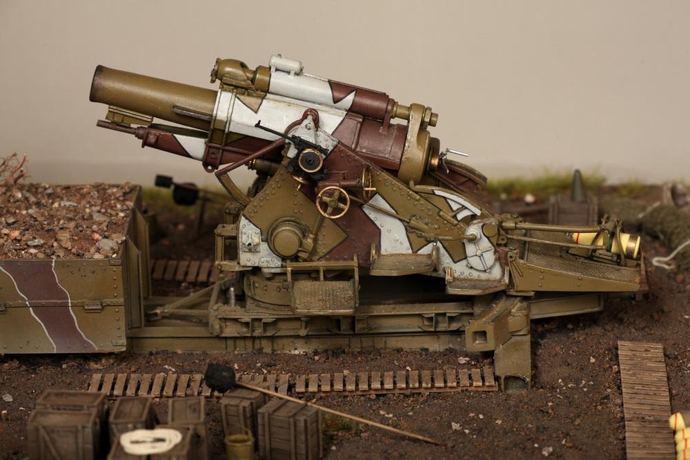 Dioramas and Vignettes: British 9.2 inch mortar at firing position, photo #30