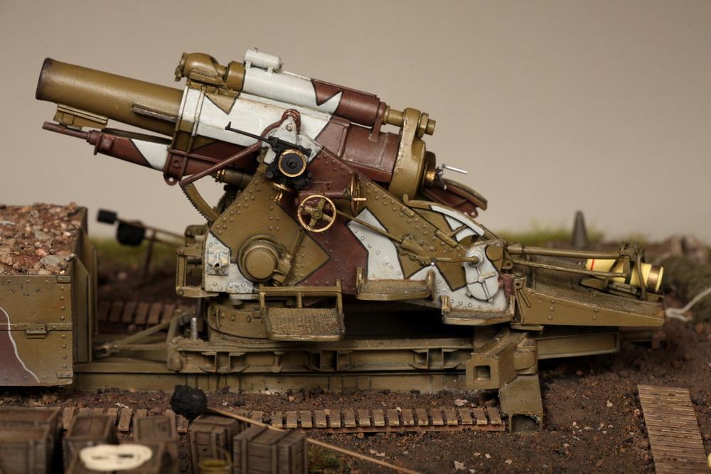 Dioramas and Vignettes: British 9.2 inch mortar at firing position, photo #31