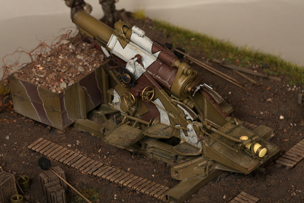 Dioramas and Vignettes: British 9.2 inch mortar at firing position, photo #32