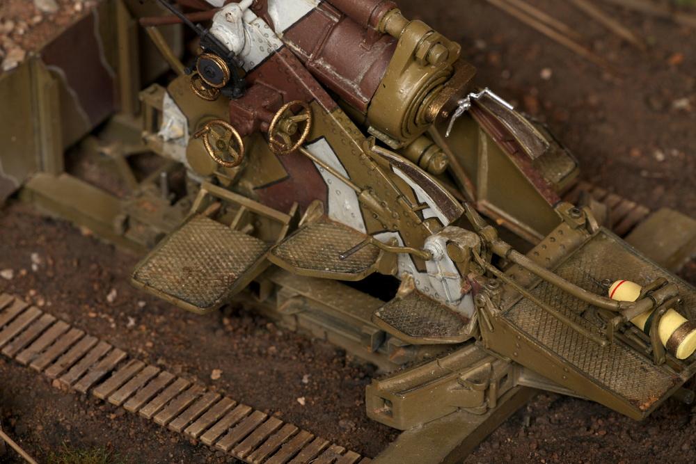 Dioramas and Vignettes: British 9.2 inch mortar at firing position, photo #33