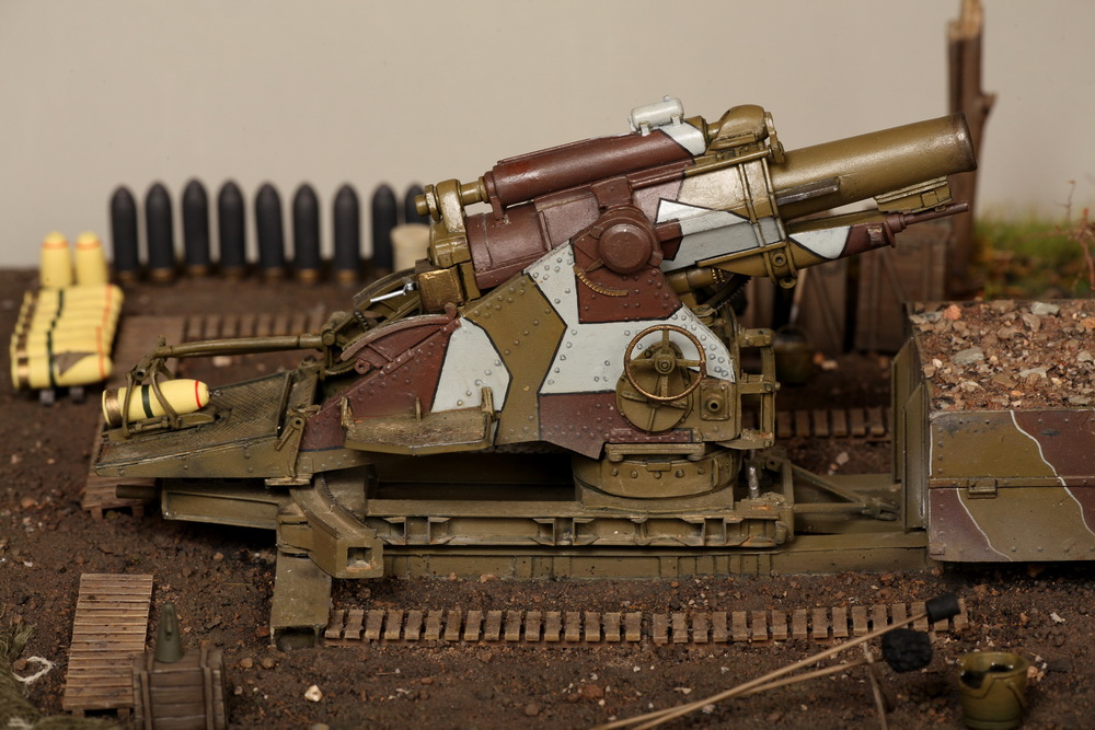 Dioramas and Vignettes: British 9.2 inch mortar at firing position, photo #35