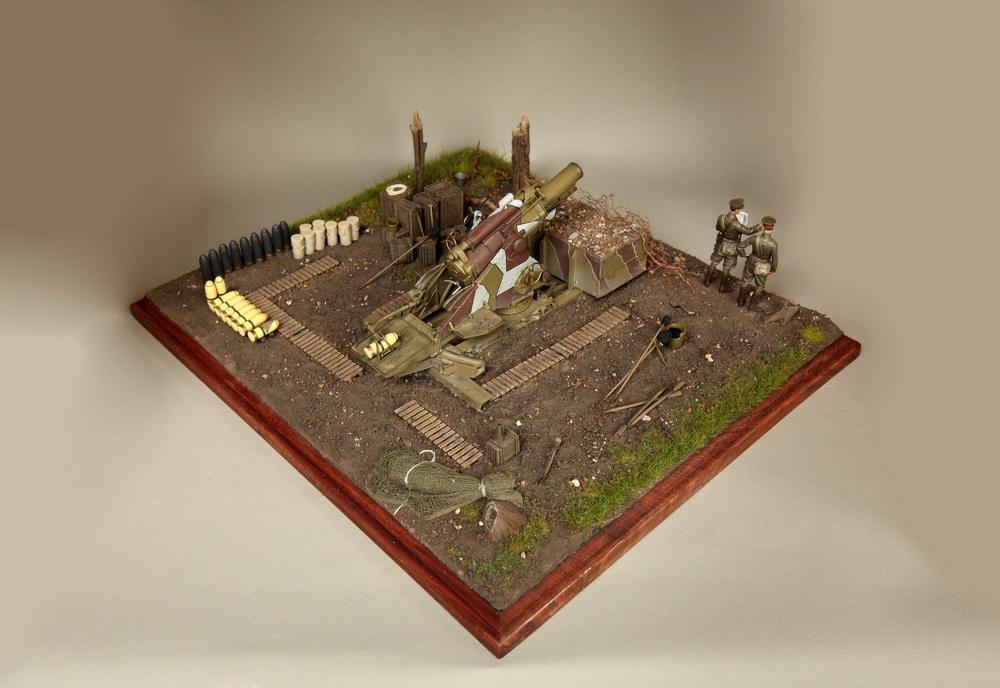 Dioramas and Vignettes: British 9.2 inch mortar at firing position, photo #4