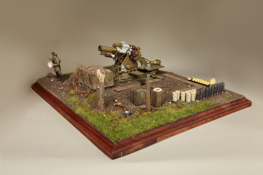 Dioramas and Vignettes: British 9.2 inch mortar at firing position, photo #9