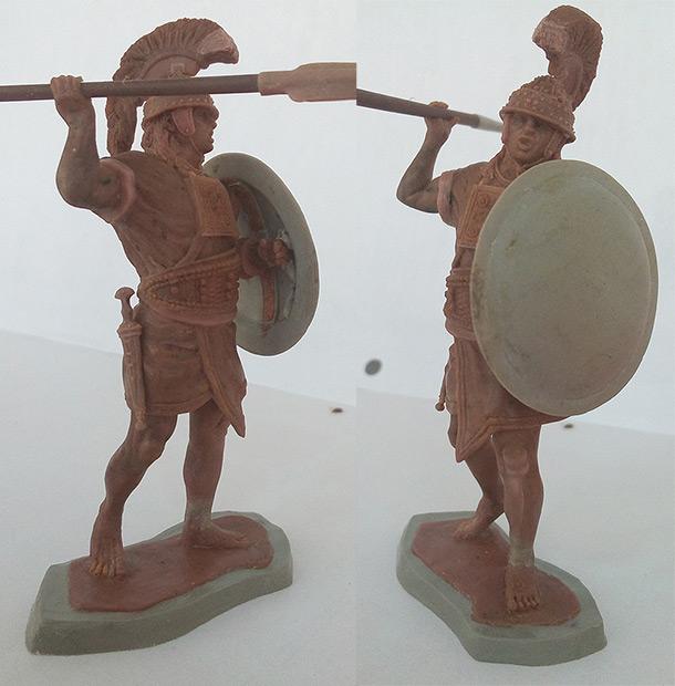 Sculpture: Roman-etruscan warrior, 600 B.C.
