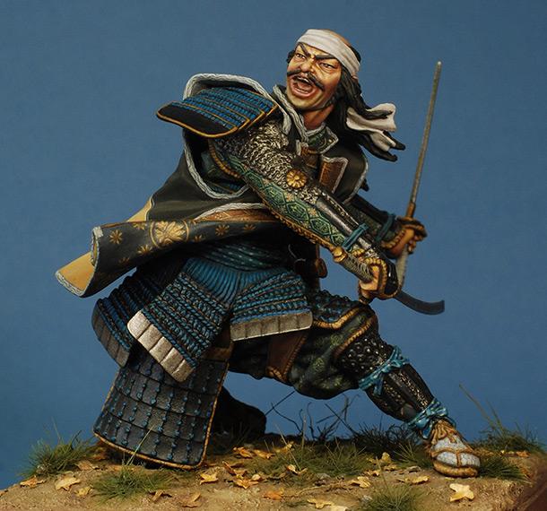 Figures: Fighting samurai