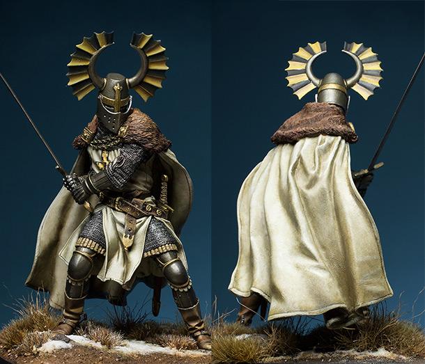 Figures: Teutonic knight, XIV cent.