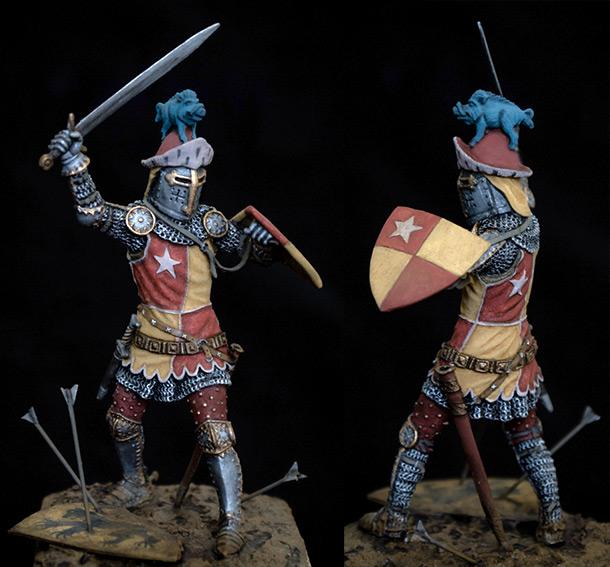 Figures: John de Vere, Battle of Crecy.