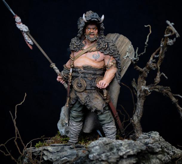 Figures: Noble Germanic warrior. 9 A.D.