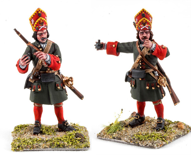 Figures: Grenadiers, infantry regiments of Peter the Great