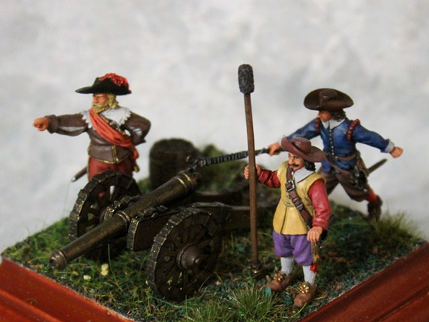 Dioramas and Vignettes: Artillery crew, XVII cent.