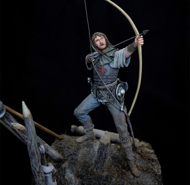 Figures: English archer. Battle of Agincourt, 1415