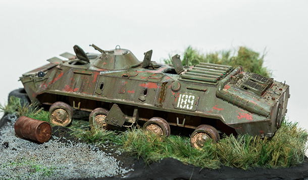 Dioramas and Vignettes: BTR-70. Abandoned and forgotten