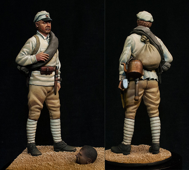Figures: Red army soldier Sukhov