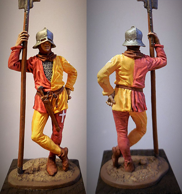 Figures: Swiss halberdier,  XV cent.