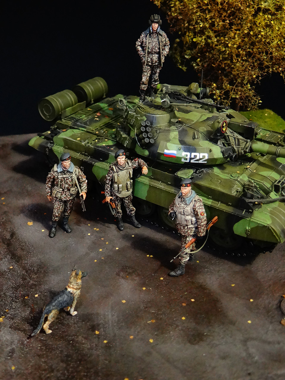Dioramas and Vignettes: T-55AM, Russian Marines, photo #1