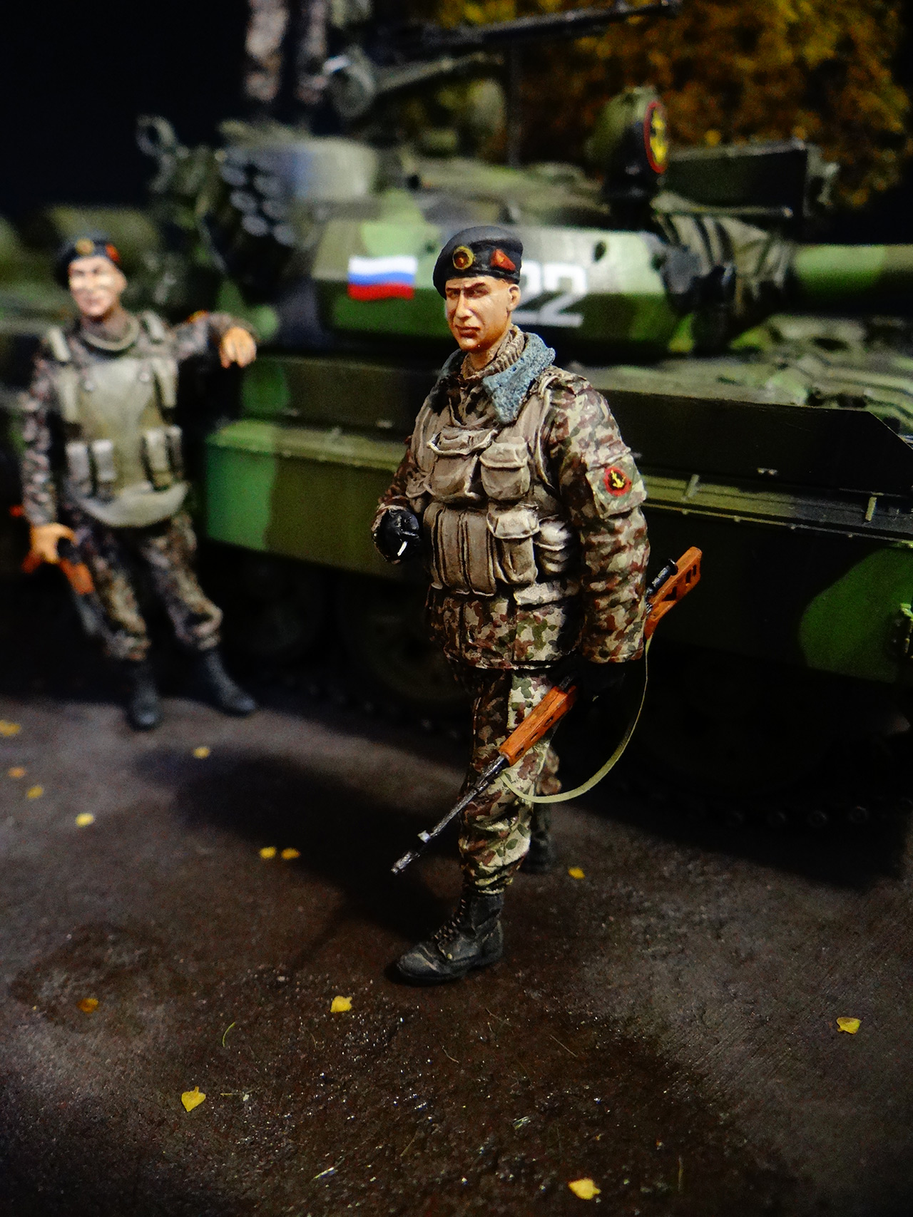 Dioramas and Vignettes: T-55AM, Russian Marines, photo #12