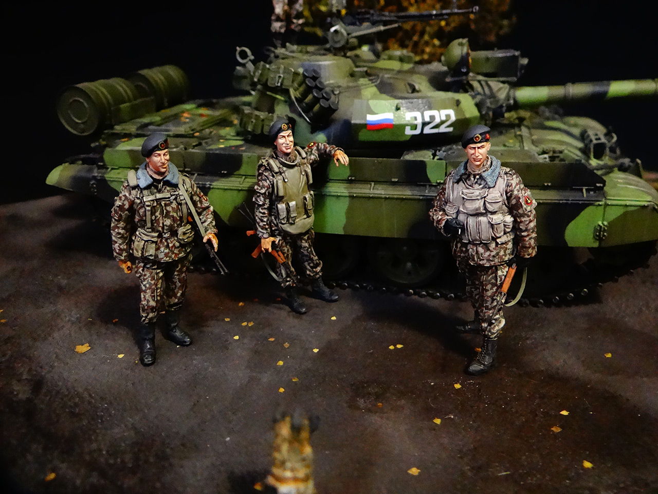 Dioramas and Vignettes: T-55AM, Russian Marines, photo #2