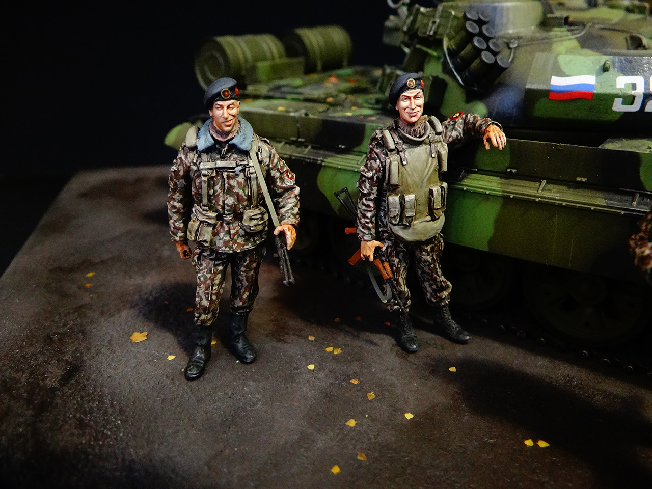 Dioramas and Vignettes: T-55AM, Russian Marines, photo #3