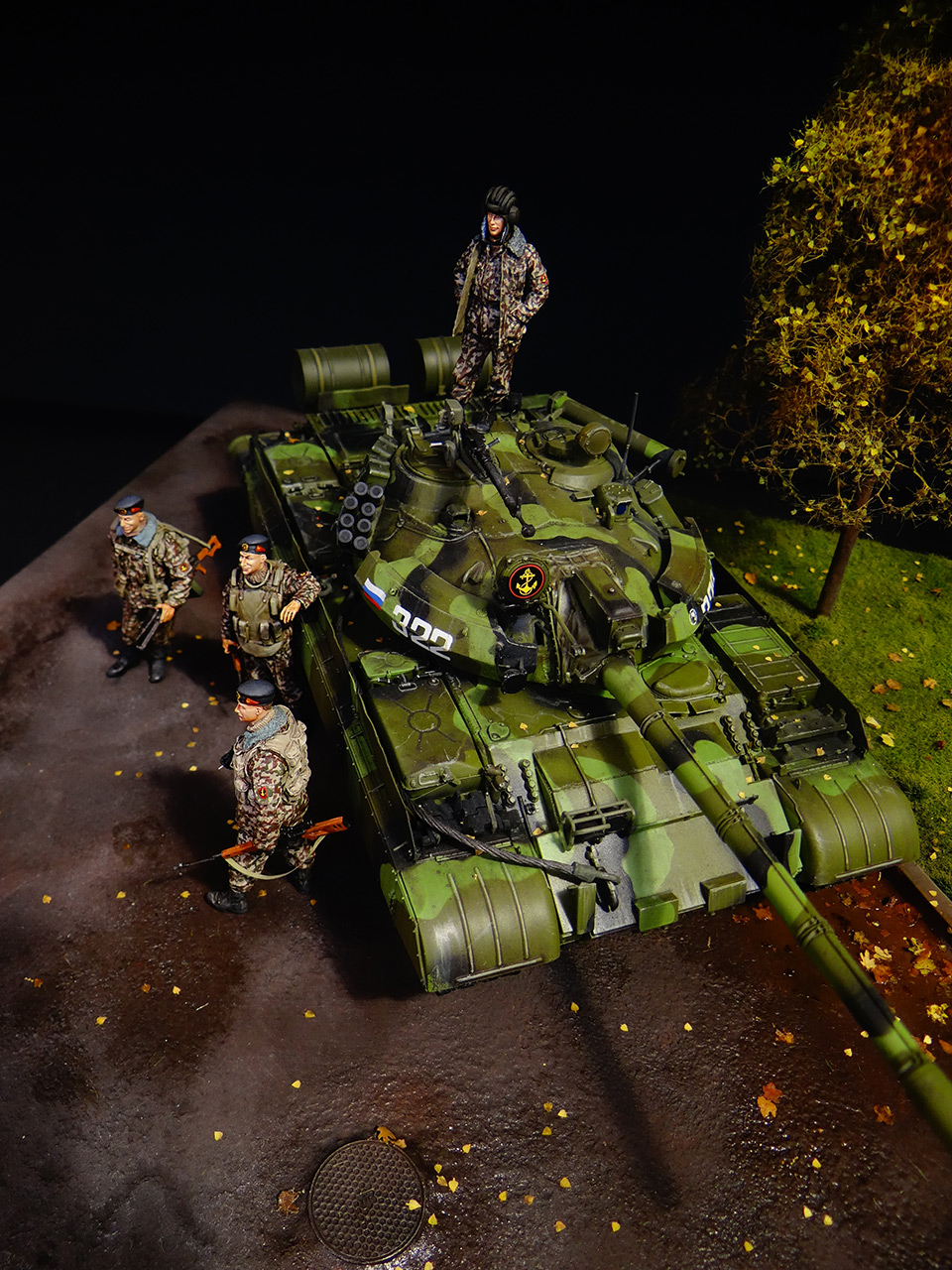 Dioramas and Vignettes: T-55AM, Russian Marines, photo #5