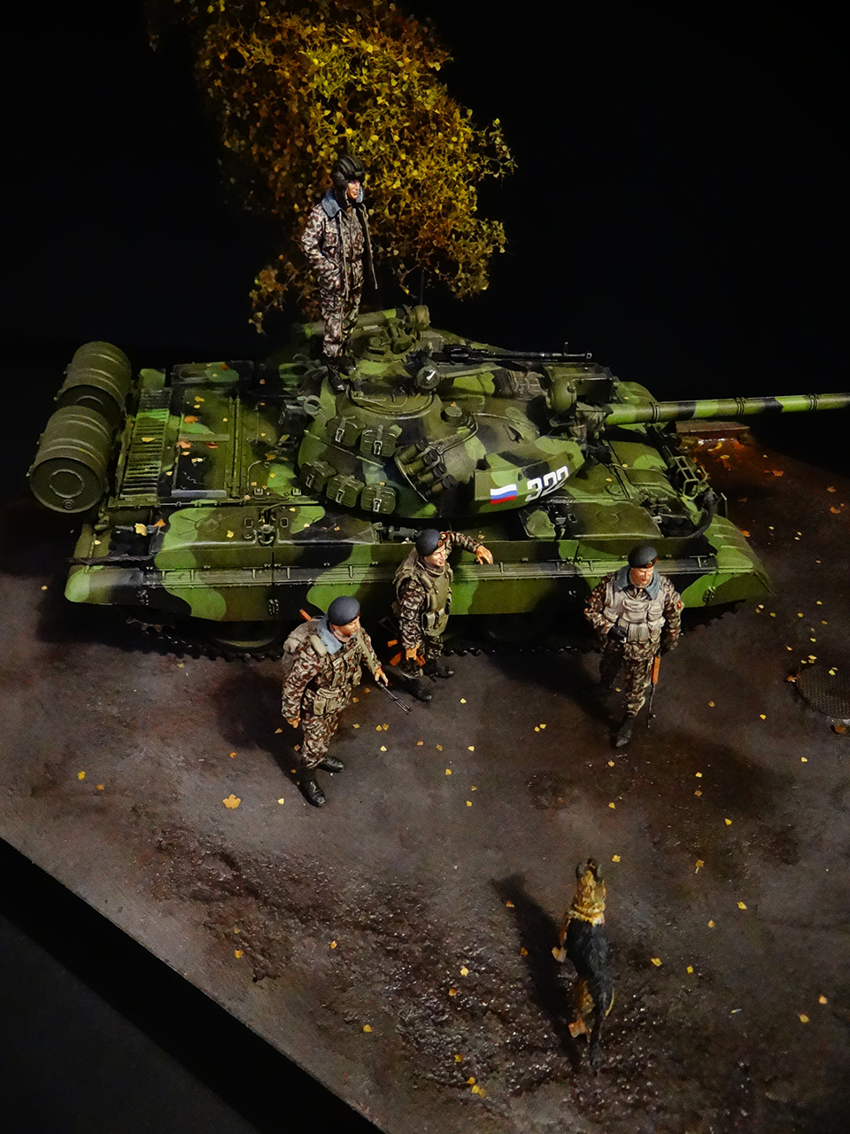 Dioramas and Vignettes: T-55AM, Russian Marines, photo #6